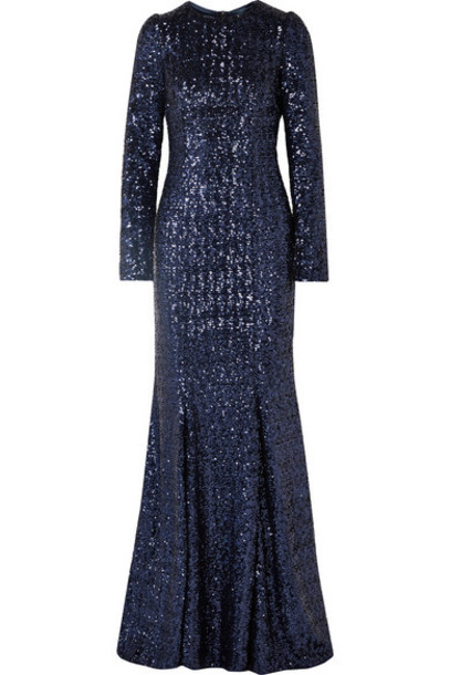 Dolce & Gabbana - Sequined Tulle Gown - Royal blue