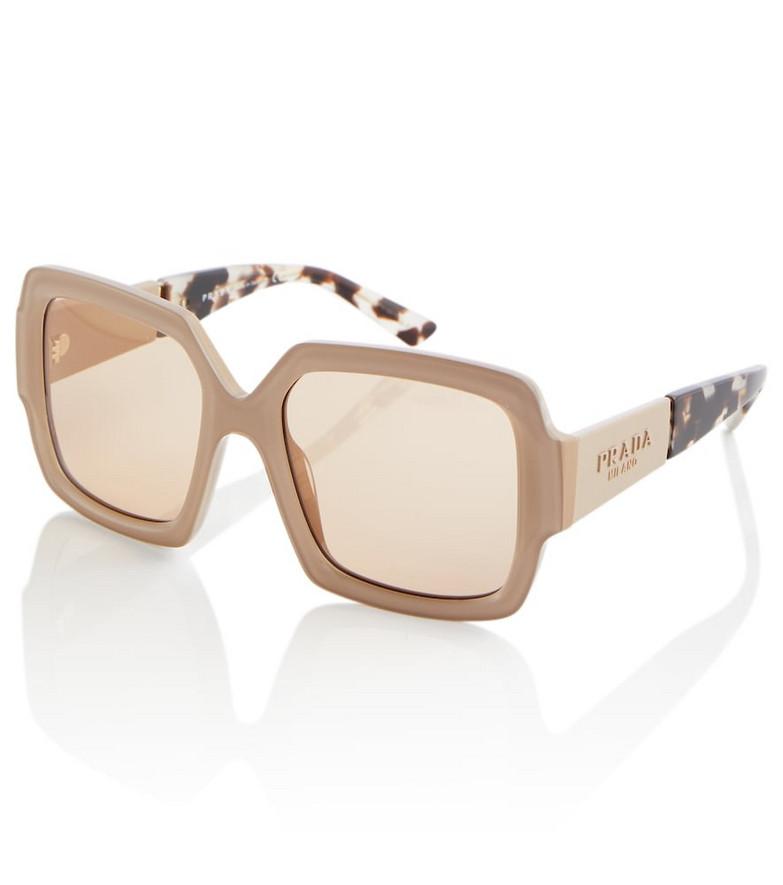 Prada Monochrome square sunglasses in brown