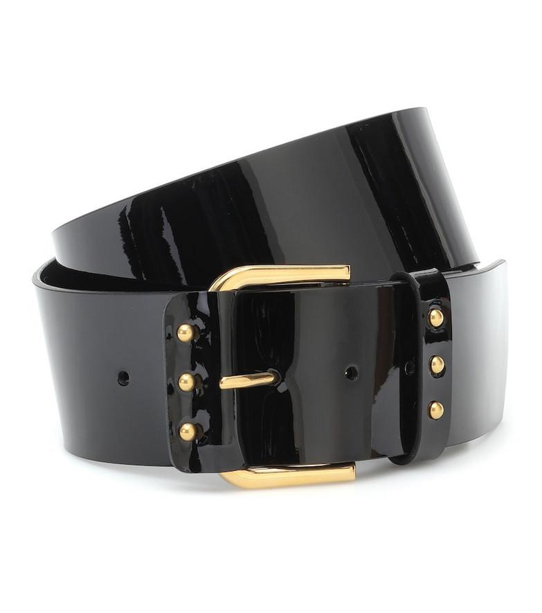 Saint Laurent Leather belt in black
