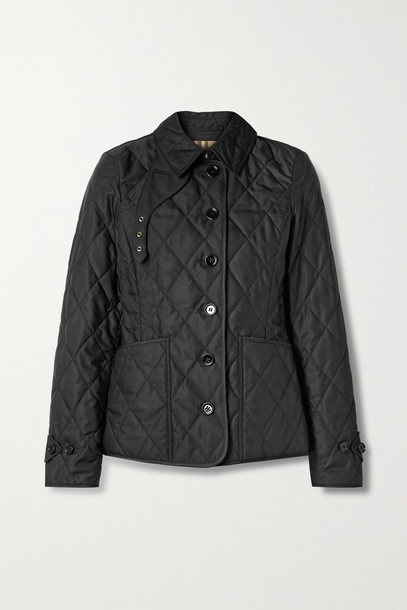 BURBERRY - Quilted Shell Jacket - Black