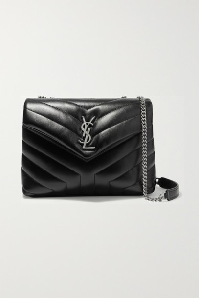SAINT LAURENT - Loulou Small Quilted Leather Shoulder Bag - Black
