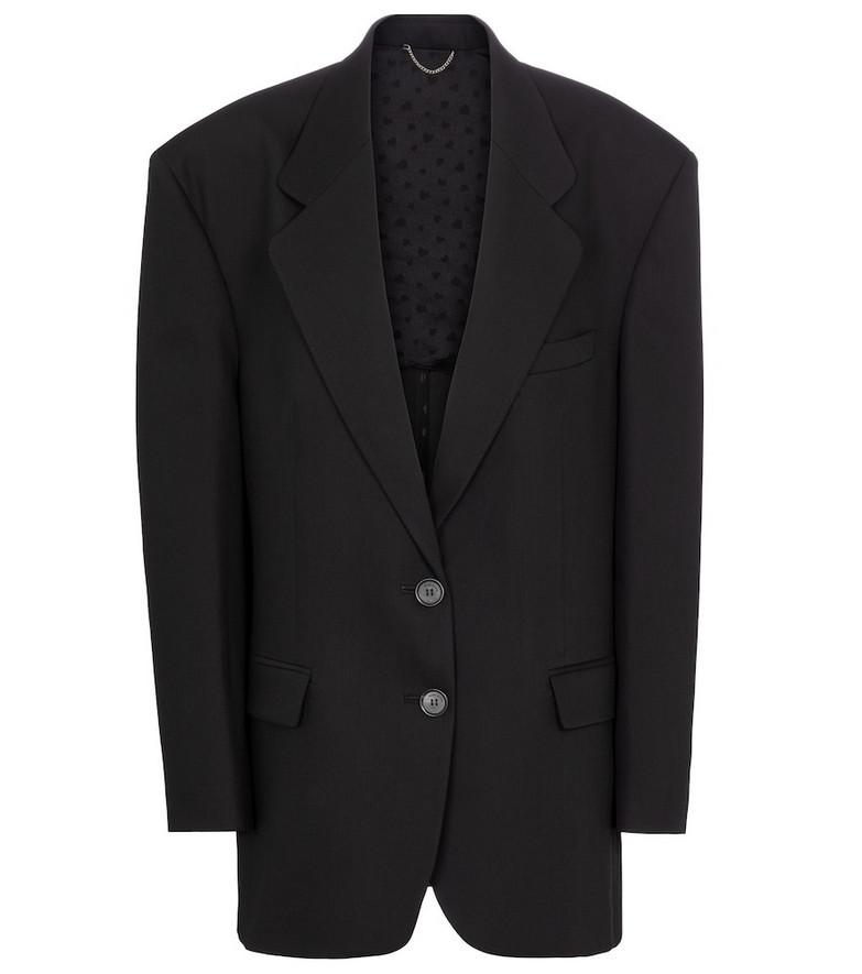 Magda Butrym Oversized wool and silk blazer in black