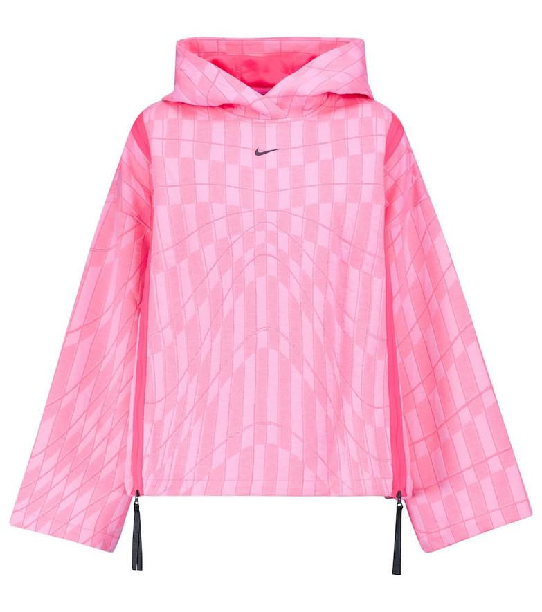 Nike Zipped fleece hoodie in pink