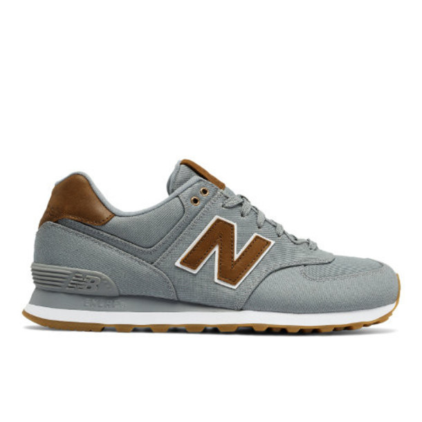 New Balance 574 15 Ounce Canvas Men's 574 Shoes - Grey/Brown (ML574TXC)