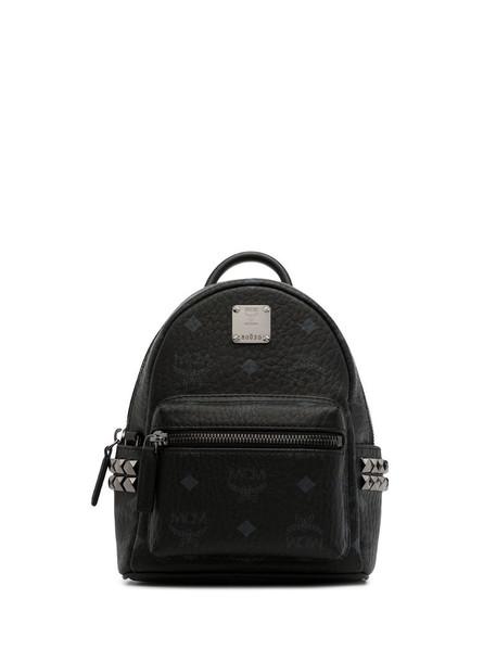 MCM Baby Stark monogram backpack in black