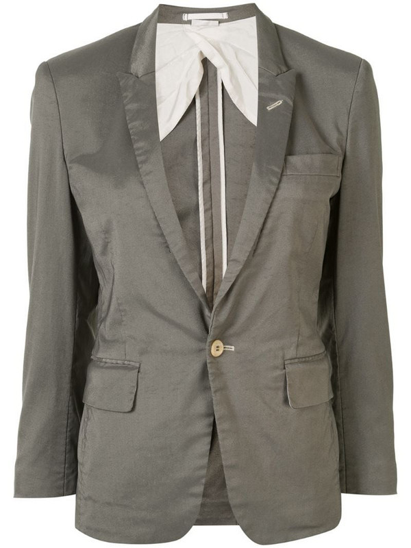 Comme Des Garçons Pre-Owned single-breasted blazer in grey
