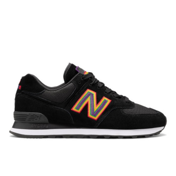 New Balance Unisex 574 Pride Pack Men's & Women's 574 Shoes - Black/White (U574GPM)