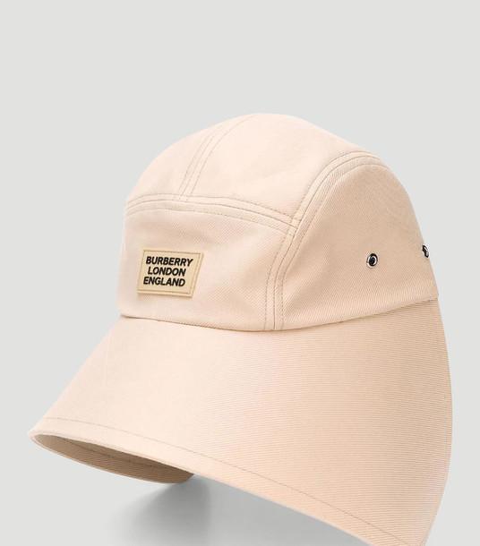 Burberry Hats Women - Logo Bonnet Cap Beige 100% Cotton. M