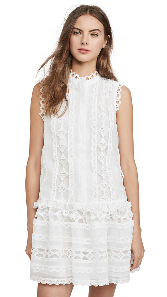 endless rose Lace Combo Dress in white