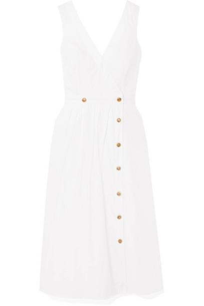 J.Crew - Rosina Cotton-poplin Wrap Dress - White