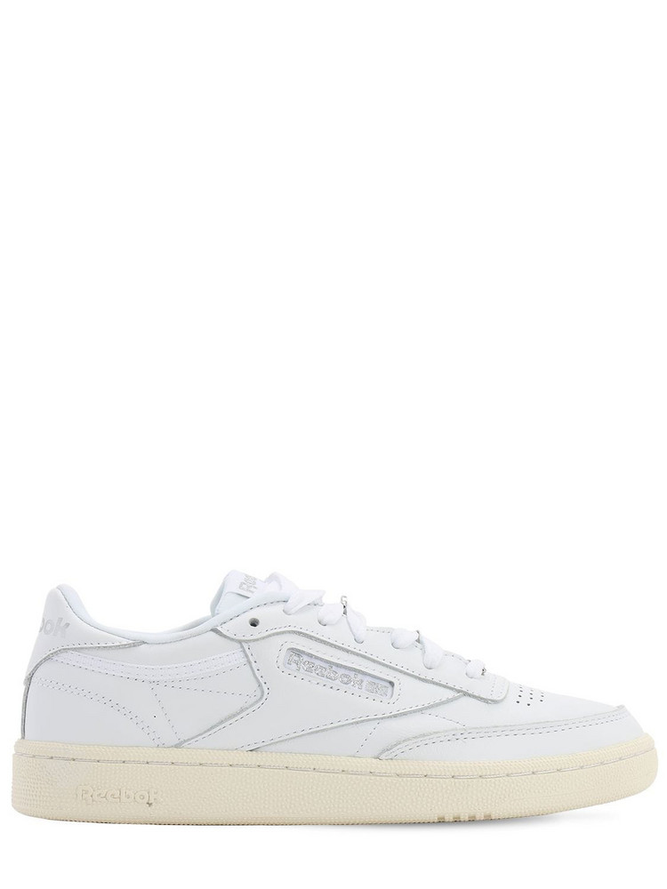 REEBOK CLASSICS Club C 85 Leather Sneakers in silver / white