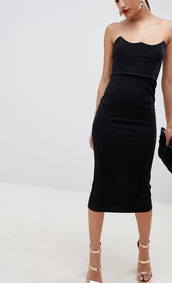 dress,black dress,goth,strapless,style