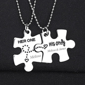 jewels,gullei,gullei.com,bff,bff necklaces,couple necklaces,friendship necklaces,jigsaw necklace,puzzle,valentines gifts,anniversary gifts,birthday gifts,couple gifts,best friends gifts