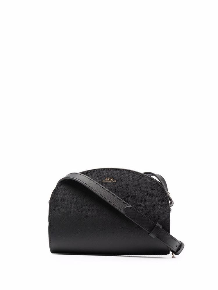A.P.C. A.P.C. Demi-Lune leather shoulder bag - Black