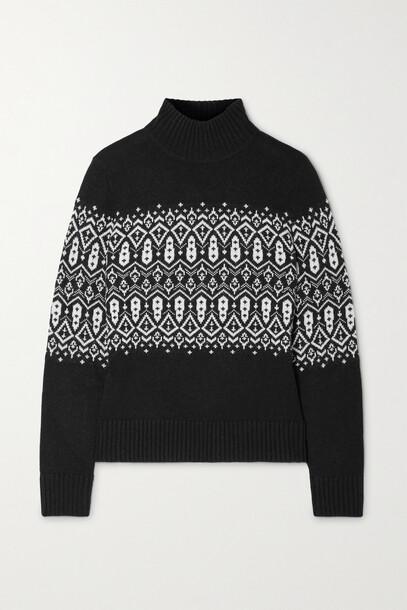 BOGNER FIRE+ICE BOGNER FIRE+ICE - Carin Intarsia-knit Turtleneck Sweater - Black