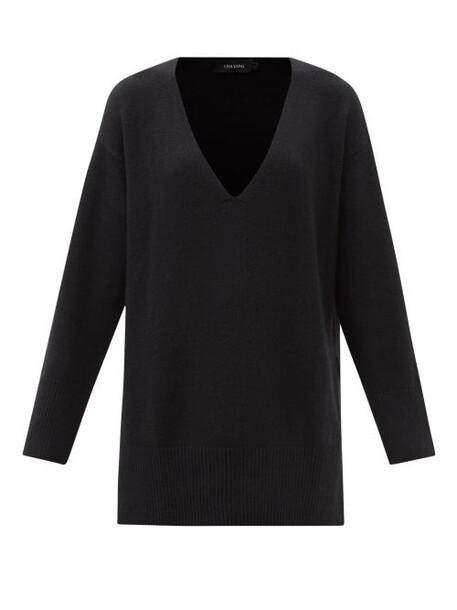 Lisa Yang - Victoria V-neck Oversized Cashmere Sweater - Womens - Black