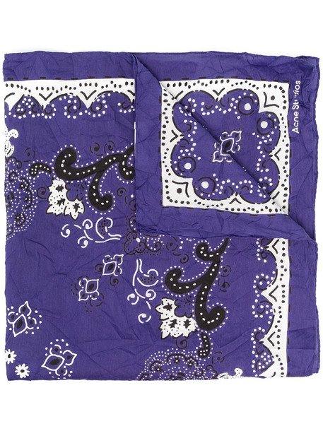 Acne Studios paisley pattern scarf in blue