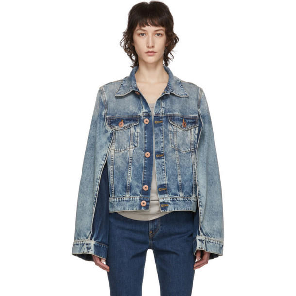 Maison Margiela Blue Denim Double Arm Jacket