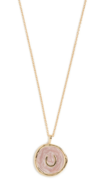 Gorjana Horseshoe Coin Necklace in gold / yellow