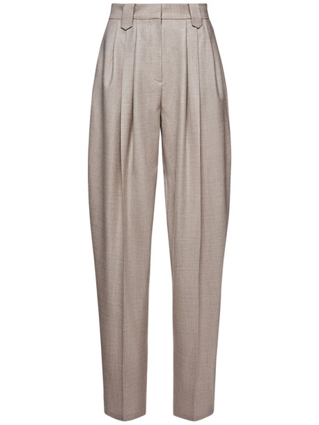 MAGDA BUTRYM Cashmere Tailoring Straight Pants in beige