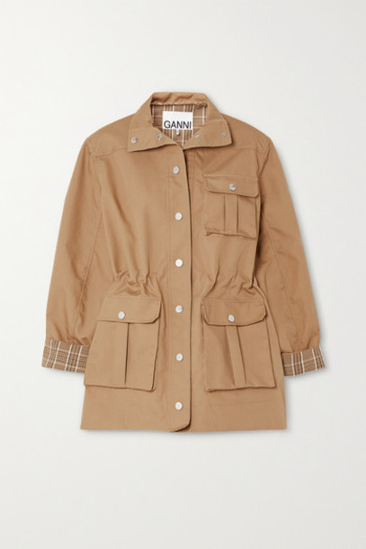 GANNI - Cotton-blend Canvas Jacket - Beige