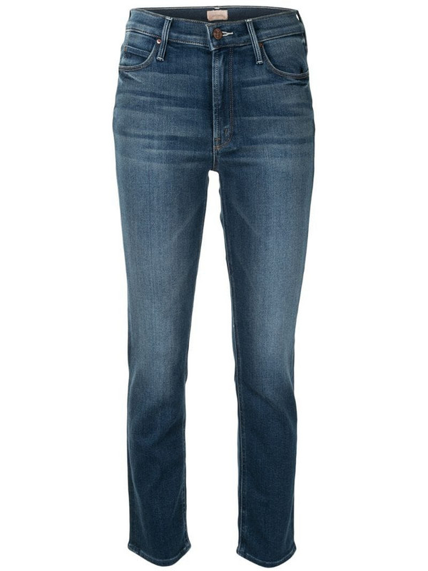 Mother The Dazzler mid-rise jeans in blue