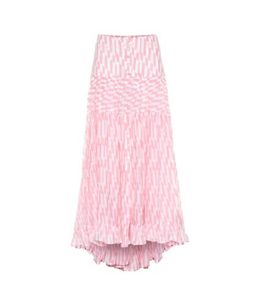 Alexandra Miro Penelope printed cotton maxi skirt in pink