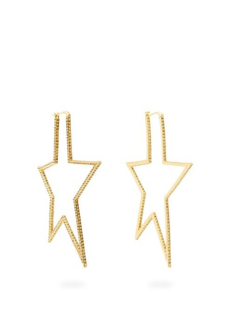 Lynn Ban - Star Pavé Topaz Gold Plated Earrings - Womens - Gold
