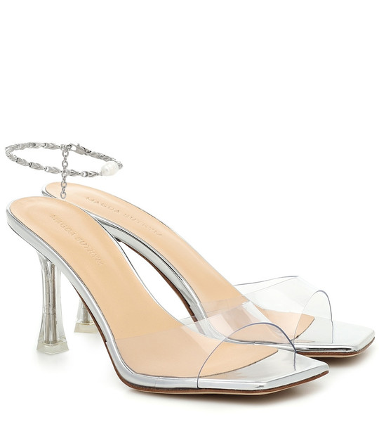 Magda Butrym Estonia leather-trimmed PVC sandals in silver