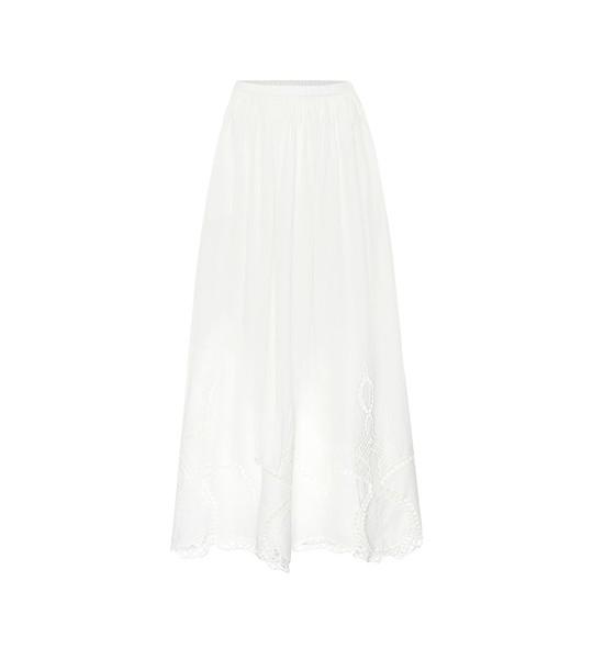 RHODE Owen cotton maxi skirt in white