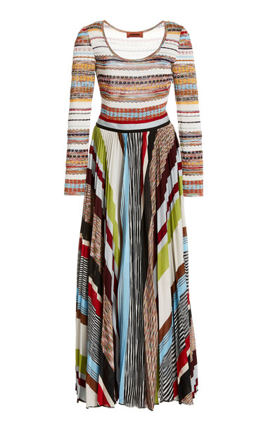 Missoni Striped Crochet-Knit Maxi Dress in multi