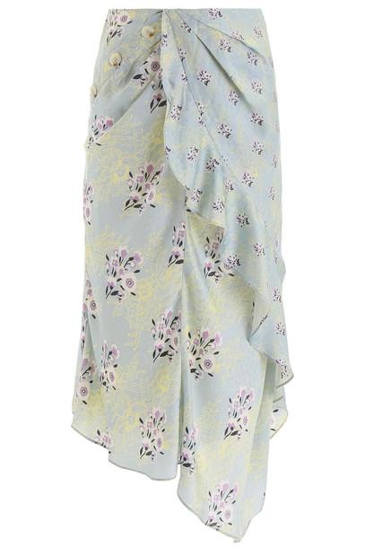 self-portrait Floral Lace Print Skirt