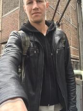 jacket,men's,black,menswear,leather,hooded jacket