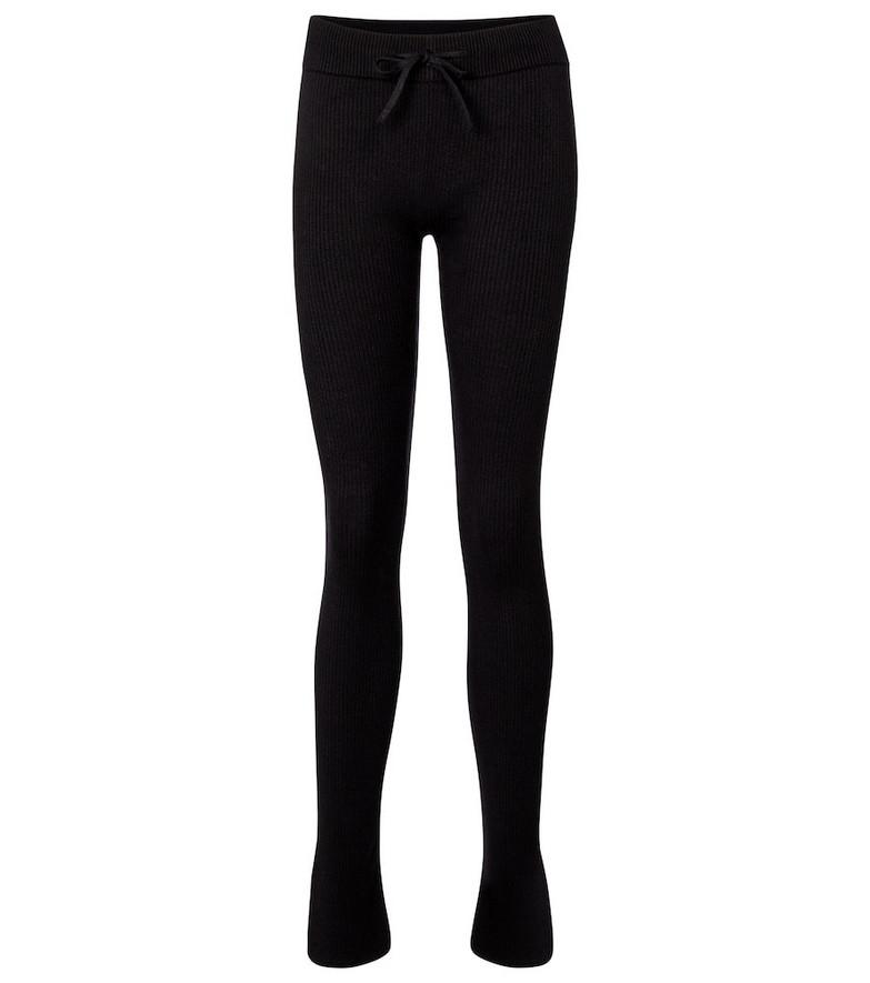 Reebok x Victoria Beckham Cotton, silk and linen jersey leggings in black