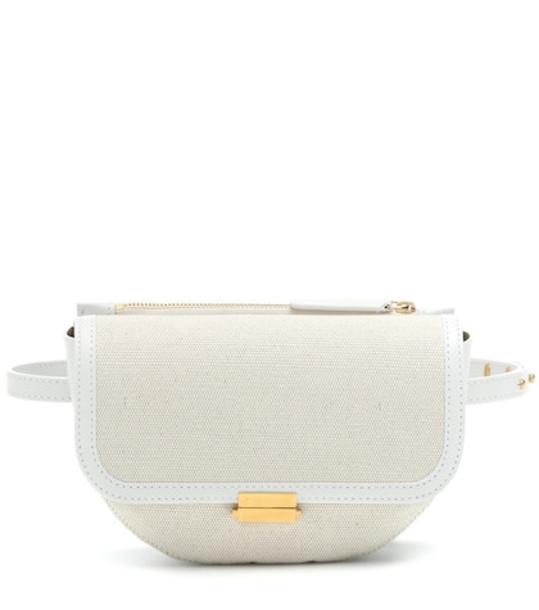 Wandler Anna Buckle canvas belt bag in white