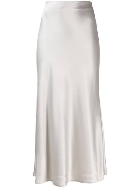 Galvan midi slip skirt in grey