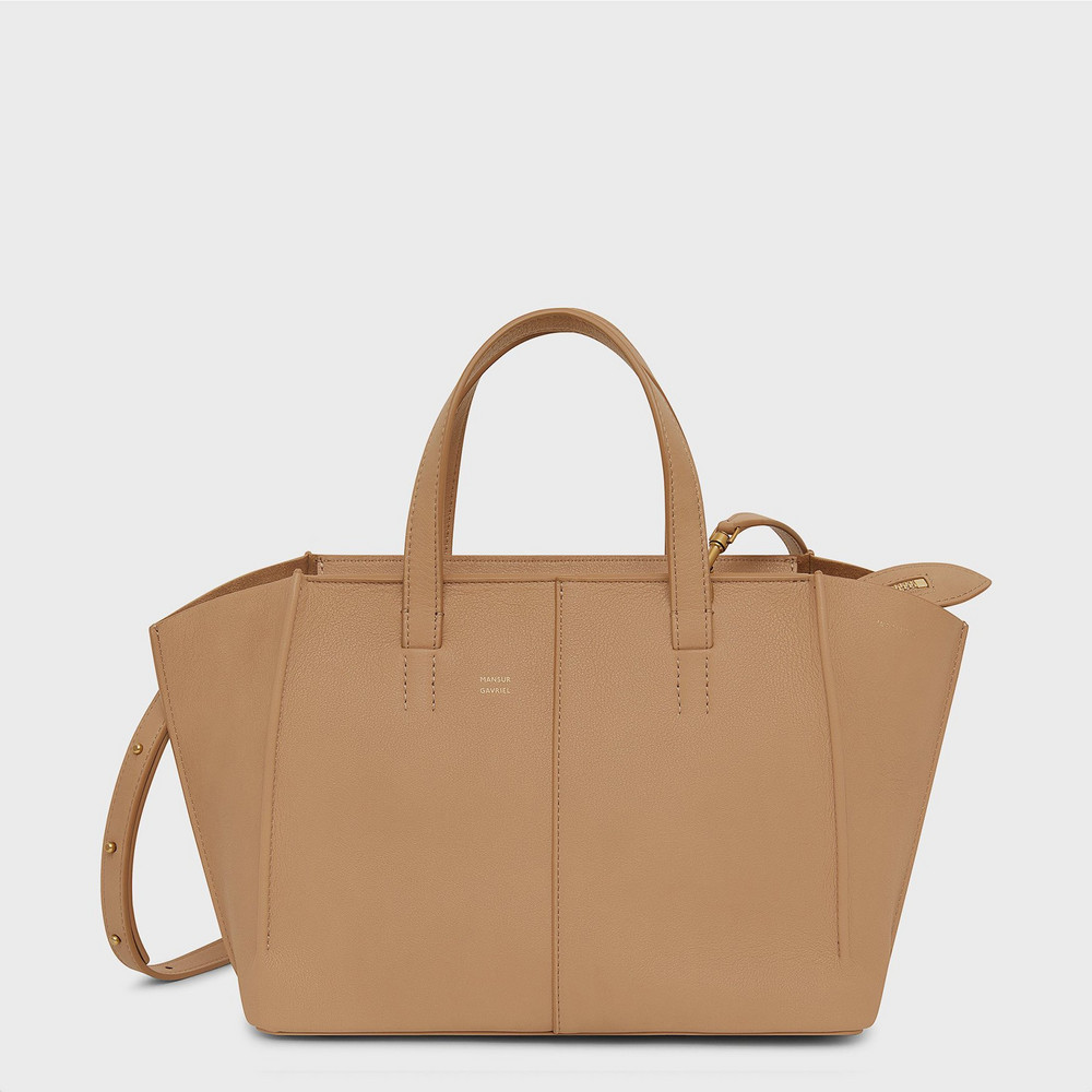 Mansur Gavriel Soft Mini Zip Multitude Tote - Nocciola