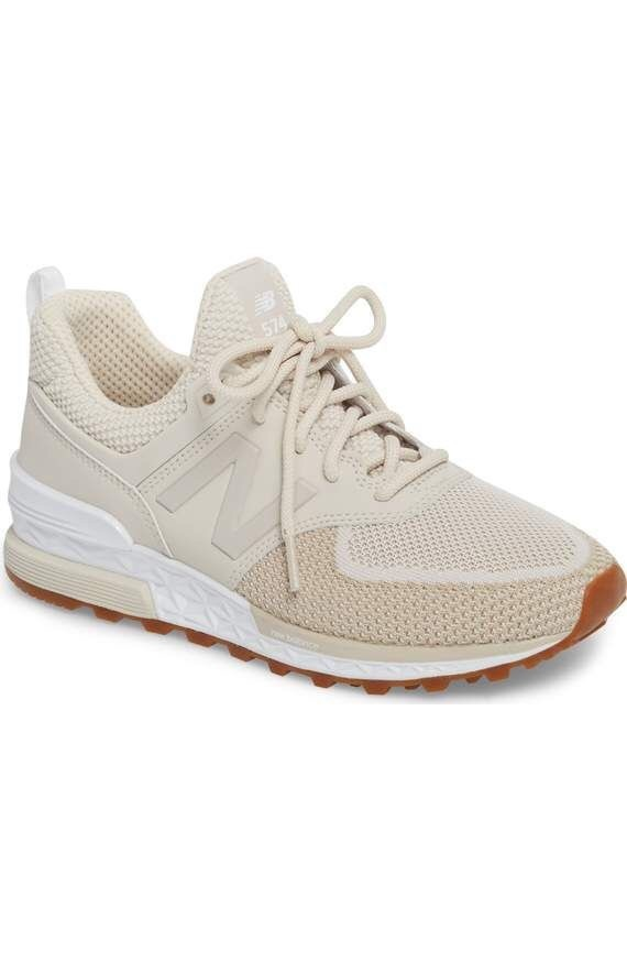 shoes new balance cute tan beige casual sneakers