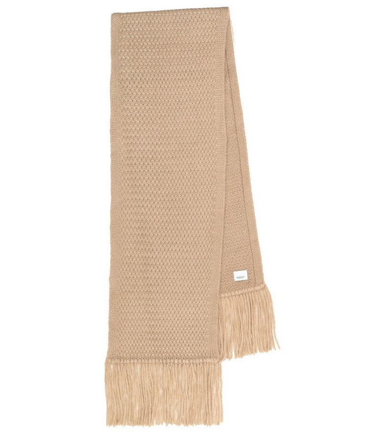 Burberry Exclusive to Mytheresa – Future Archive mohair and silk scarf in beige