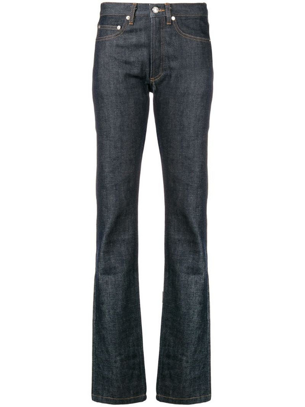 A.P.C. straight leg jeans in blue
