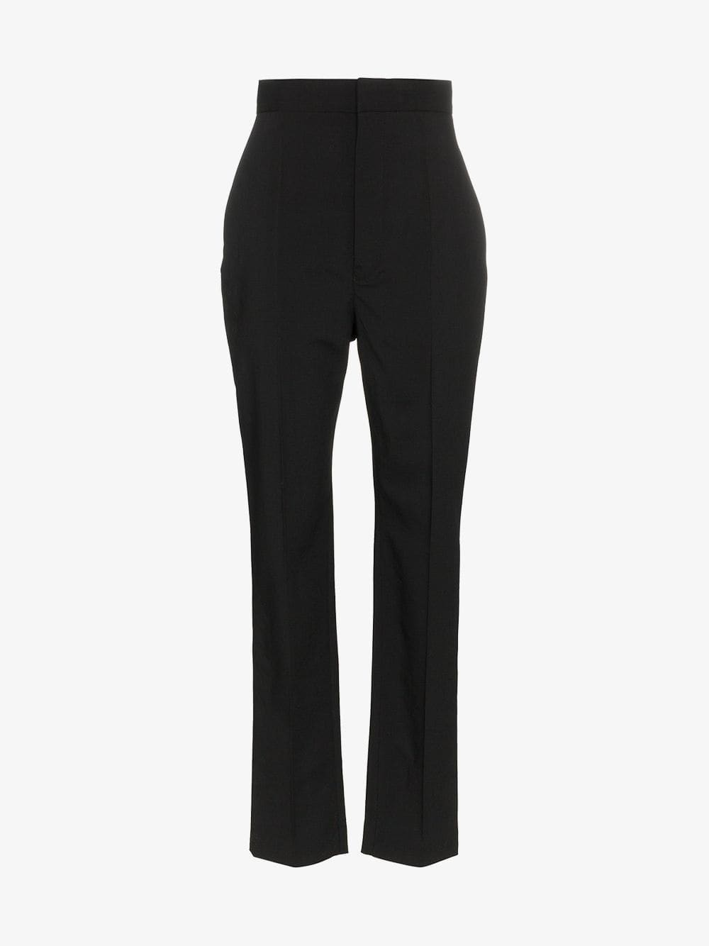 Haider Ackermann Slim-fit tailored wool-blend trousers in black
