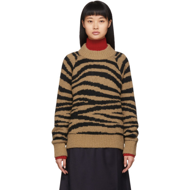 A.P.C. A.P.C. Tan and Black Jemima Sweater