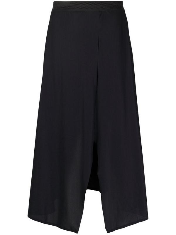 Filippa K Soft Sport Dance front slit skirt in black