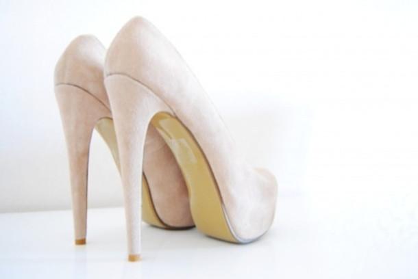 shoes heels beige high heels