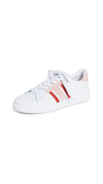 Tory Burch Howell T-Saddle Court Sneakers in white
