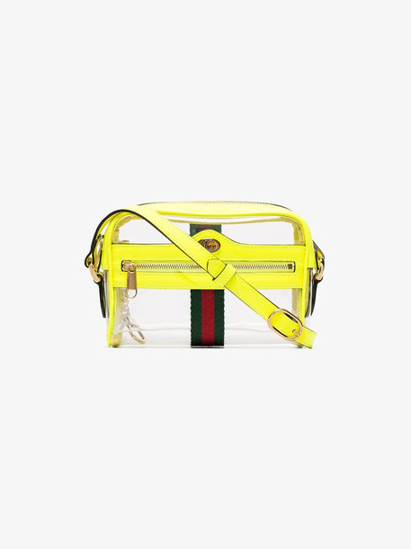 Gucci yellow ophidia transparent mini bag