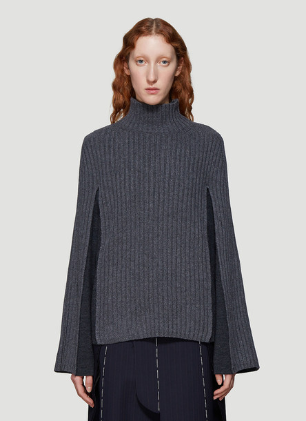 Maison Margiela Ribbed Knit Sweater in Grey size M