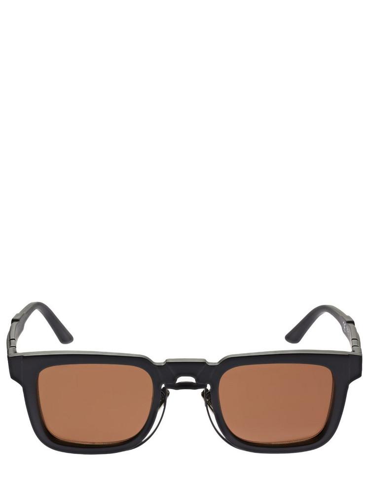 KUBORAUM BERLIN N4 Double Frame Squared Sunglasses in black / brown