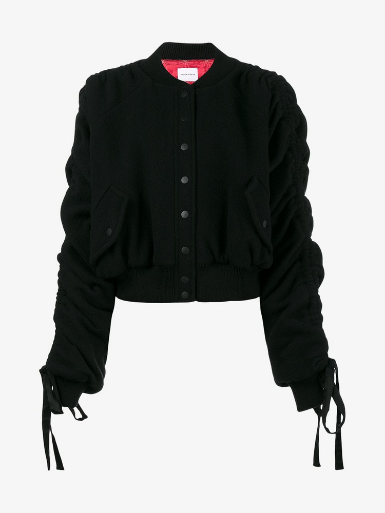 Magda Butrym Clarice ruched bomber jacket in black