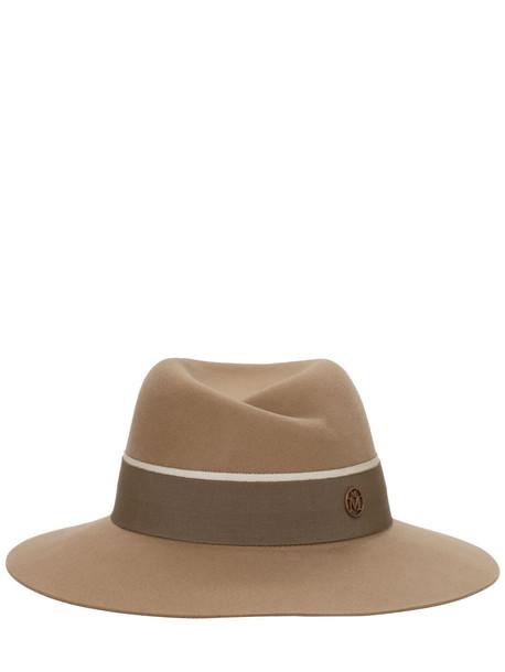 MAISON MICHEL Virginie Felted Wool Hat in beige